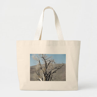 Burnt Gnarly Tree Canvas Bags