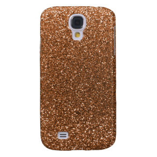 Burnt gold glitter galaxy s4 cover