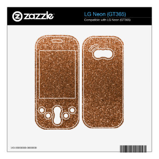 Burnt gold glitter decals for LG neon