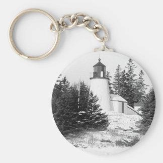 Burnt Island Lighthouse Keychain
