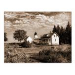 Burnt Island Lighthouse Maine-Postcard Postcard