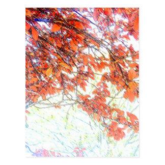 Burnt Ochre Pastels Tree Postcard