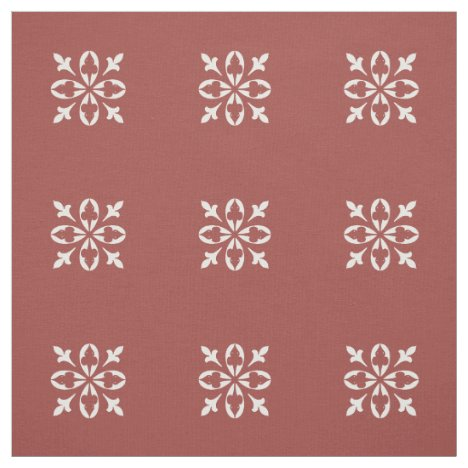 Burnt ombre background with white damask pattern fabric