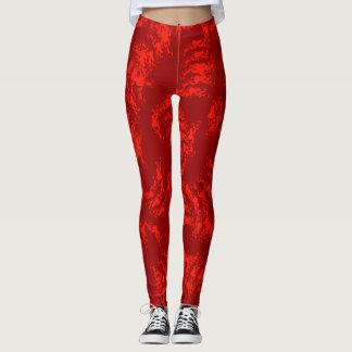 Burnt Orange Abstract Leggings