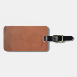 Burnt Orange Abstract Low Polygon Background Bag Tag