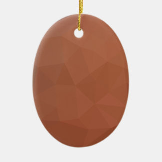 Burnt Orange Abstract Low Polygon Background Ceramic Ornament