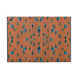 Burnt Orange and Blue Fabric Pattern Cover For iPad Mini