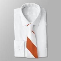 Burnt Orange and White Broad University Stripe Tie