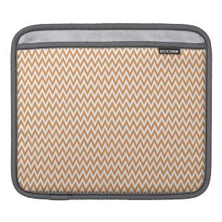 Burnt Orange and White Chevron Stripes iPad Sleeves