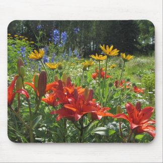 Burnt Orange Asiatic Lilies, Gloriosas  Daisies, Mouse Pad