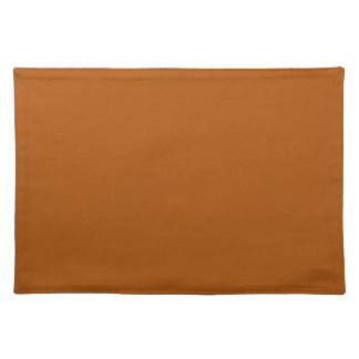 Burnt Orange Background on a Placemat