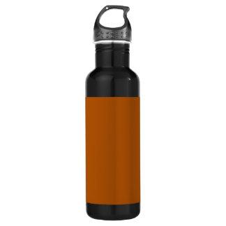Burnt Orange Background on a Water Bottle
