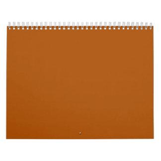 Burnt Orange Backgrounds on a Calendar