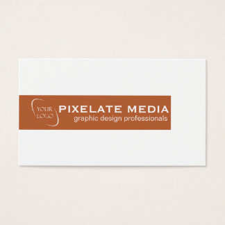 Burnt orange bar with logo minimal chic business card