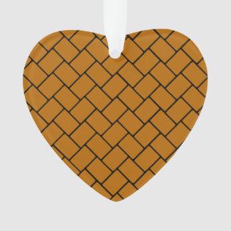 Burnt Orange Basket Weave 2 Ornament