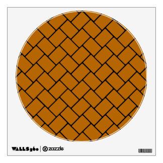 Burnt Orange Basket Weave 2 Wall Sticker