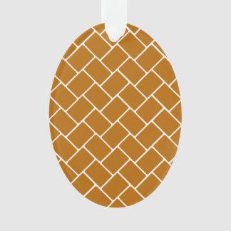 Burnt Orange Basket Weave Ornament