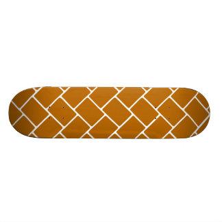 Burnt Orange Basket Weave Skateboard