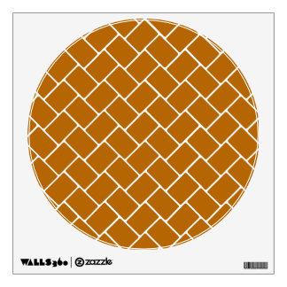 Burnt Orange Basket Weave Wall Decal