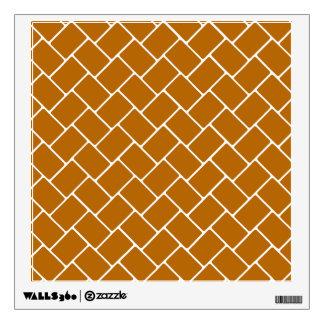 Burnt Orange Basket Weave Wall Sticker