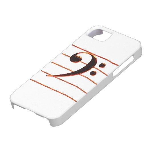 Burnt Orange Bass Clef Music iPhone 5 Case