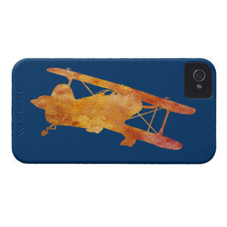 Burnt Orange Biplane iPhone 4 Cover
