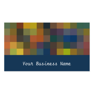 Burnt Orange Browns Navy Abstract Business Card