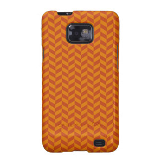 Burnt Orange Chevron Zig Zag Stripes Pattern Samsung Galaxy SII Case