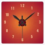Burnt Orange Clock> Kitchen Clocks