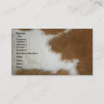 Burnt orange cowhide business card