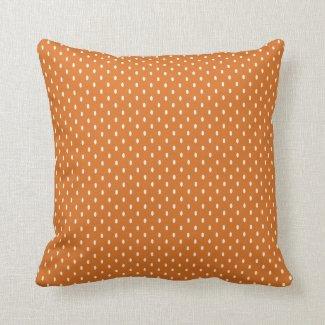 Burnt Orange Cream Dot Indoor  Pillow 16x16