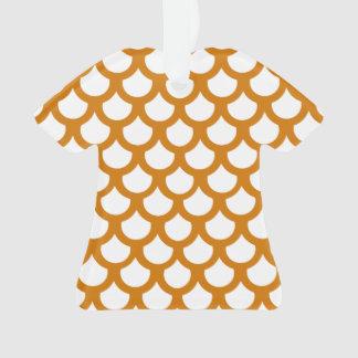 Burnt Orange Fish Scale 1 Ornament
