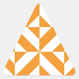 Burnt Orange Geometric Deco Cube Pattern Triangle Stickers