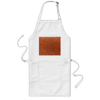 Burnt orange glitter aprons