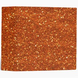 Burnt Orange Glitter Binder