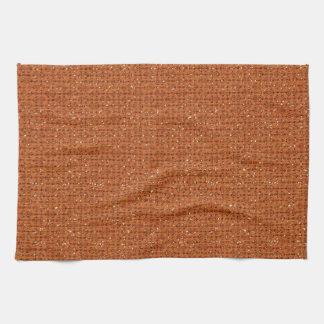 BURNT ORANGE GLITTER DOTS ABSTRACT RANDOM PATTERNS HAND TOWEL