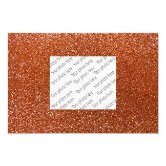 Burnt orange glitter photo print