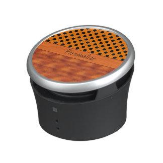 Burnt Orange Halloween Clouds & Polka Dots Bluetooth Speaker