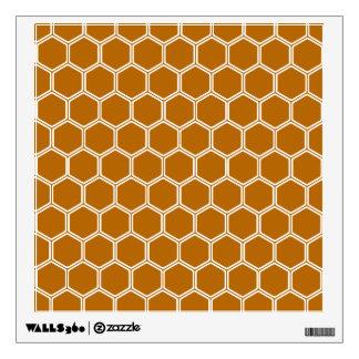 Burnt Orange Hexagon 1 Wall Decal