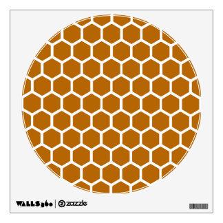 Burnt Orange Hexagon 2 Wall Sticker