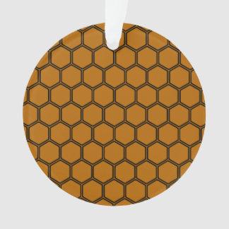 Burnt Orange Hexagon 3 Ornament