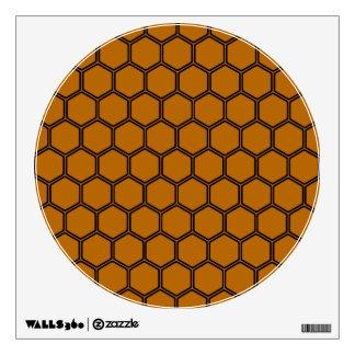 Burnt Orange Hexagon 3 Wall Sticker