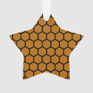 Burnt Orange Hexagon 4 Ornament