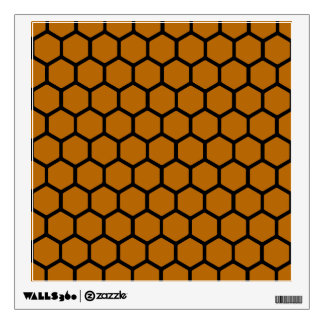 Burnt Orange Hexagon 4 Wall Sticker