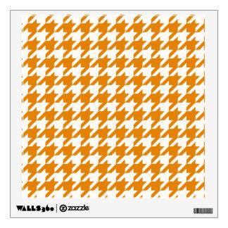 Burnt Orange Houndstooth 1 Wall Sticker