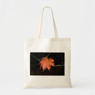 Burnt Orange Leaf Bag Budget Tote Bag