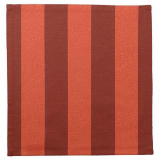 Burnt Orange-Maroon Broad Stripe Cloth Napkin