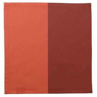 Burnt Orange-Maroon Two-Tone Cloth Napkin