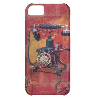 Burnt orange nobody's home retro phone art. iPhone 5C cases