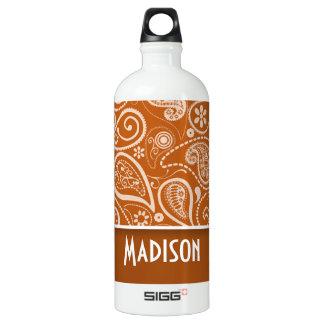 Burnt Orange Paisley; Floral SIGG Traveler 1.0L Water Bottle